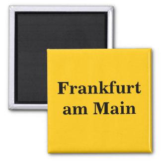 Frankfurt/Main sign gold Gleb Magnet