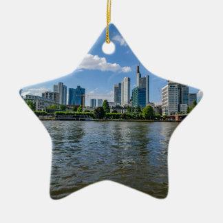 Frankfurt Skyline Ceramic Ornament