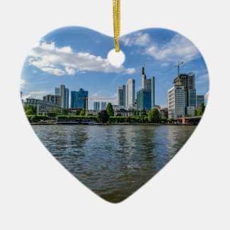 Frankfurt Skyline Ceramic Ornament