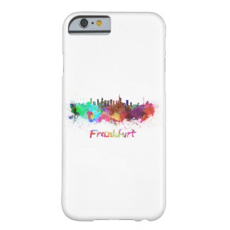 Frankfurt skyline in watercolor barely there iPhone 6 case