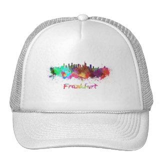 Frankfurt skyline in watercolor cap