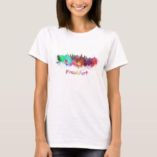 Frankfurt skyline in watercolor T-Shirt