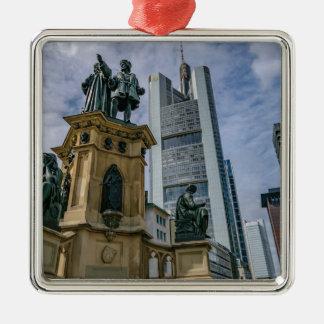 Frankfurt Skyline Metal Ornament