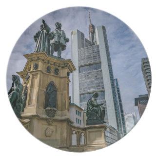 Frankfurt Skyline Plate
