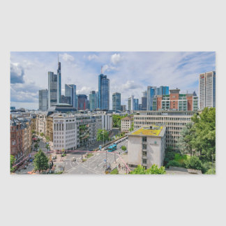Frankfurt Skyline Rectangular Sticker