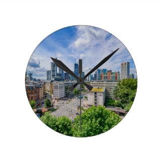 Frankfurt Skyline Round Clock