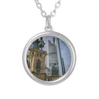 Frankfurt Skyline Silver Plated Necklace