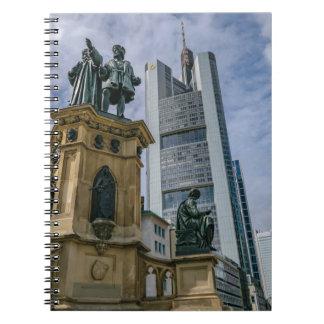 Frankfurt Skyline Spiral Notebook