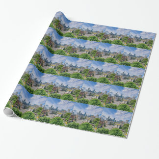 Frankfurt Skyline Wrapping Paper