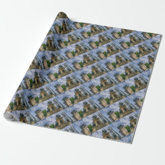 Frankfurt Skyline Wrapping Paper