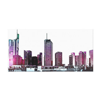 Frankfurt, Skyscraper Architecture - illustration Canvas Print