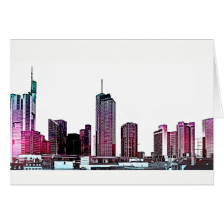 Frankfurt, Skyscraper Architecture - illustration Card