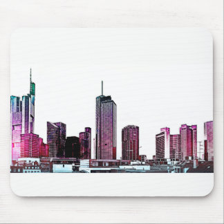Frankfurt, Skyscraper Architecture - illustration Mouse Pad