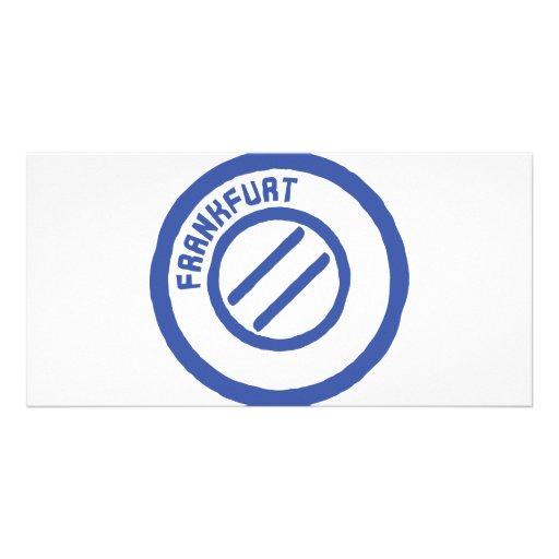 Frankfurt stamp photo cards