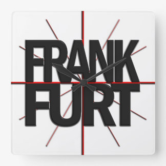 Frankfurt Timezone Wall Clock