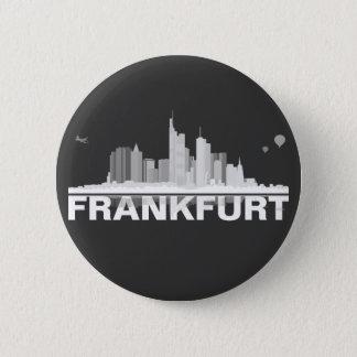 Frankfurt town center of skyline button