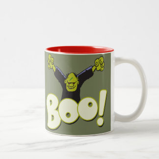 Frankie Antihero Superhero Frankenstein Halloween Two-Tone Coffee Mug