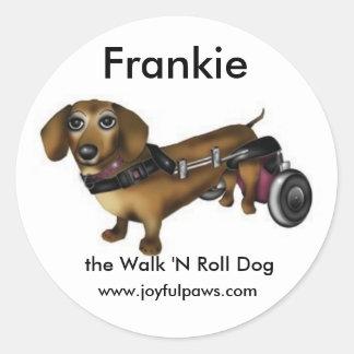 Frankie Small, Frankie, the Walk 'N Roll Dog Round Sticker