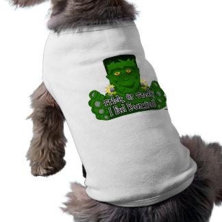 Frankie Trick Or Treat I Feel Energized Sleeveless Dog Shirt