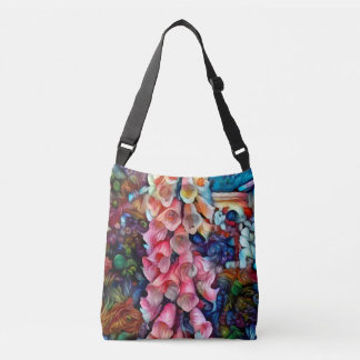 FRANKIES FOXGLOVE tote or crossbody bag 3 sizes