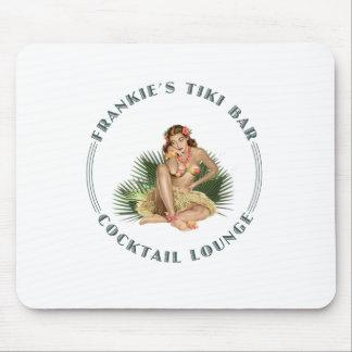 Frankie's Tiki Bar Hula Girl Cocktail Lounge Mouse Pad