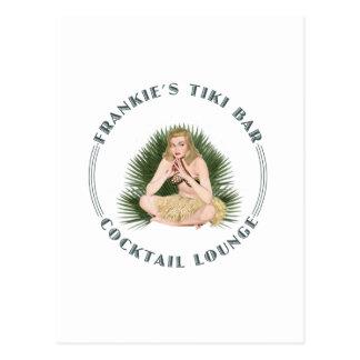 Frankie's Tiki Bar Hula Girl Cocktail Lounge Postcard