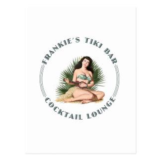 Frankie's Tiki Bar Hula Girl Postcard