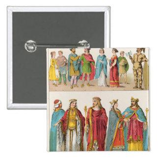 Frankish Dress 15 Cm Square Badge