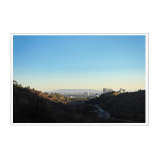 Franklin Canyon Park Los Angeles City View Acrylic Print