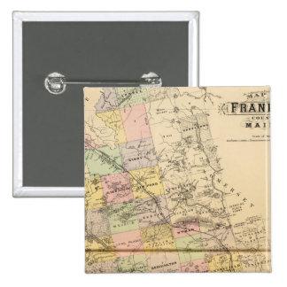 Franklin Co, Maine 15 Cm Square Badge