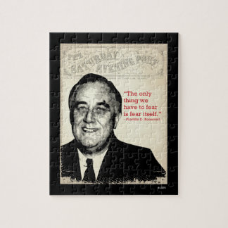 Franklin D. Roosevelt Quote Jigsaw Puzzle