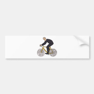 Franklin D Roosevelt Riding Bike With Dime Wheels Bumper Sticker