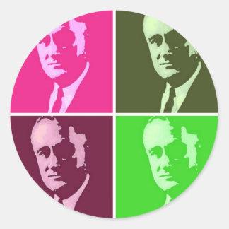 Franklin D Roosevelt Round Sticker