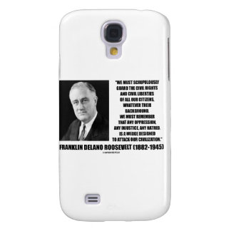 Franklin Delano Roosevelt Civil Rights Liberties Samsung Galaxy S4 Covers
