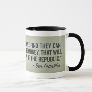 Franklin End of the Republic Mug