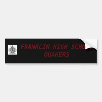 FRANKLIN HIGH SCHOOL QUAKERS BUMPER STICKER