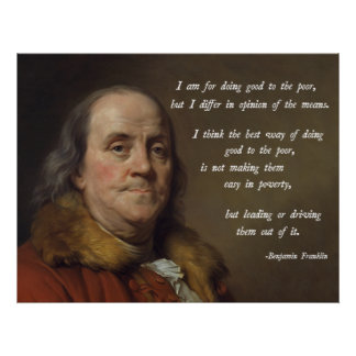 Franklin Poverty Quote Poster
