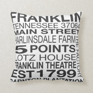 Franklin Tennessee Throw Pillow