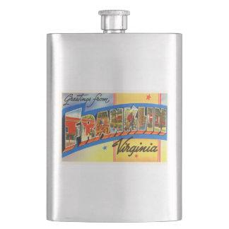 Franklin Virginia VA Old Vintage Travel Postcard- Hip Flask