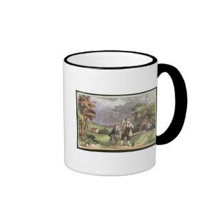 Franklin's experiment in electricity ringer mug