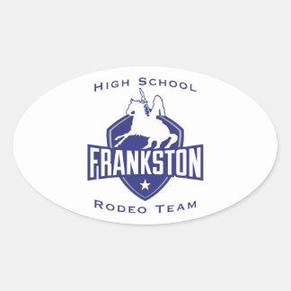Frankston High School Rodeo Team Oval Sticker