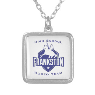 Frankston High School Rodeo Team Square Pendant Necklace