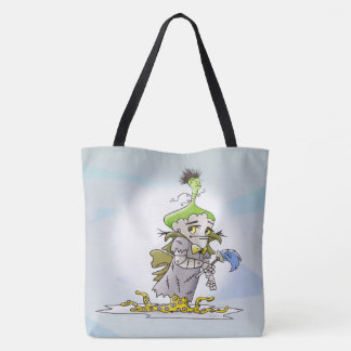 FRANKY ALIEN  All-Over-Print Tote Bag LARGE