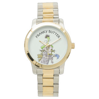 FRANKY BUTTER ALIEN CARTOON Oversized Two-Tone Bra Watch