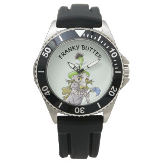 FRANKY BUTTER ALIEN CARTOON Stainless Steel Black Watch
