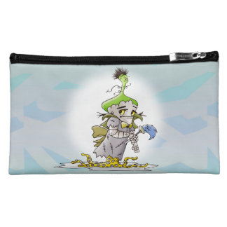 FRANKY BUTTER ALIEN Sueded Medium Cosmetic  bag