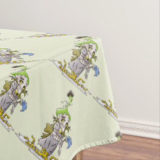 """FRANKY BUTTER ALIEN Tablecloth COLOR LIPS 60""""x84"""""""
