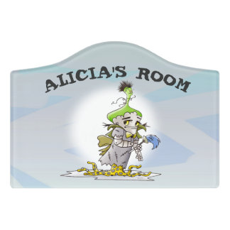 FRANKY BUTTER CARTOON  Crest Small Room Sign