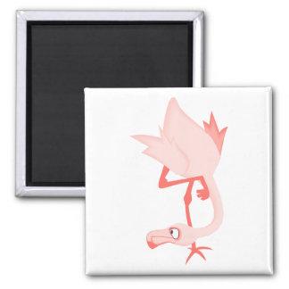 Franky Flamingo Square Magnet