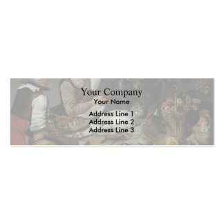 Frans Hals-A Kitchen Interior with a Maid & a Lady Business Card Template
